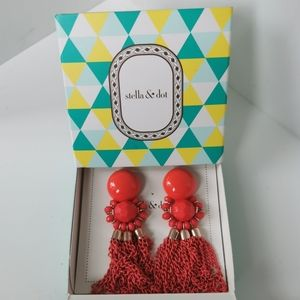Stella and Dot Pink Earrings Brand New